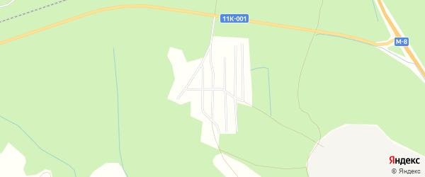 Карта садового некоммерческого товарищества Сота Озерки в Архангельской области с улицами и номерами домов