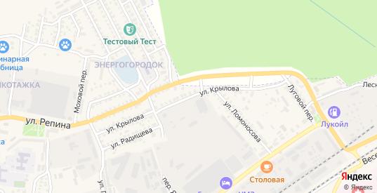 Улица Крылова в Урюпинске с номерами домов на карте. Спутник и схема онлайн