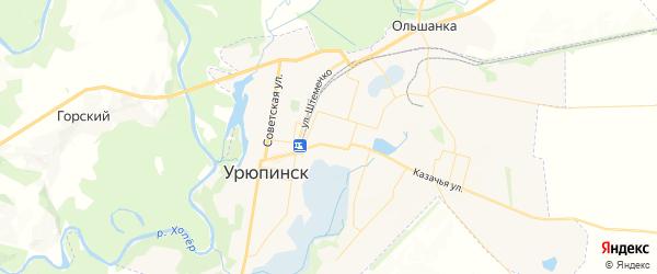 Карта Урюпинска с районами, улицами и номерами домов