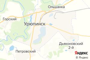 Карта г. Урюпинск Волгоградская область