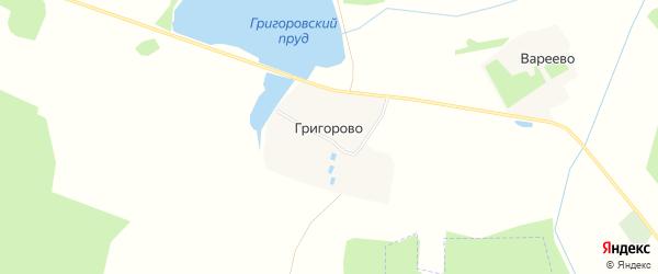 Карта деревни Григорово в Ивановской области с улицами и номерами домов