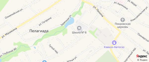 Совхозный переулок на карте села Пелагиада Ставропольского края с номерами домов