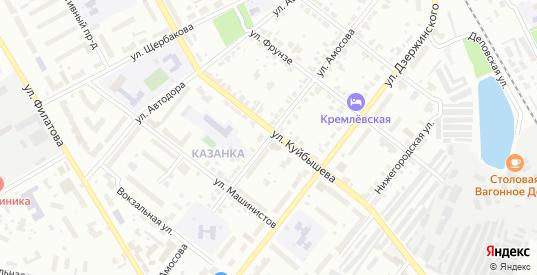 Улица Амосова в Муроме с номерами домов на карте. Спутник и схема онлайн
