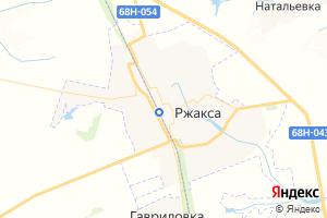 Карта пгт Ржакса Тамбовская область