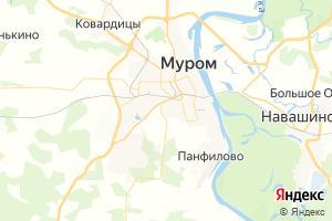 Карта г. Муром Владимирская область