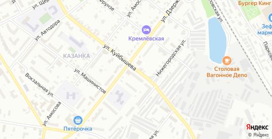 Улица Куйбышева в Муроме с номерами домов на карте. Спутник и схема онлайн