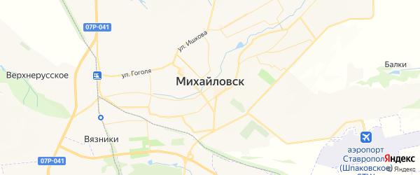 Карта Михайловска с районами, улицами и номерами домов: Михайловск на карте России