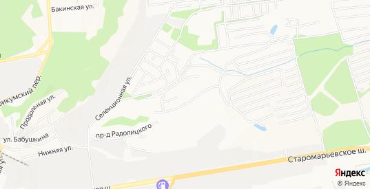 Карта территории Сдт Водник в Ставрополе с улицами, домами и почтовыми отделениями со спутника онлайн