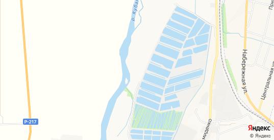 Карта территории Сдт Яблочко в Черкесске с улицами, домами и почтовыми отделениями со спутника онлайн
