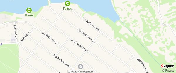 Рабочая 2-я улица на карте Южи с номерами домов