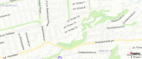 Улица Успех-12 на карте территории сдт Успеха с номерами домов