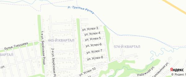 Улица Успех-5 на карте территории сдт Успеха с номерами домов