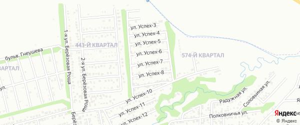 Улица Успех-7 на карте территории сдт Успеха с номерами домов