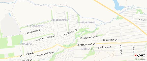Карта территории сдт Успеха города Ставрополя в Ставропольском крае с улицами и номерами домов