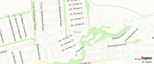 Улица Успех-1 на карте территории сдт Успеха с номерами домов