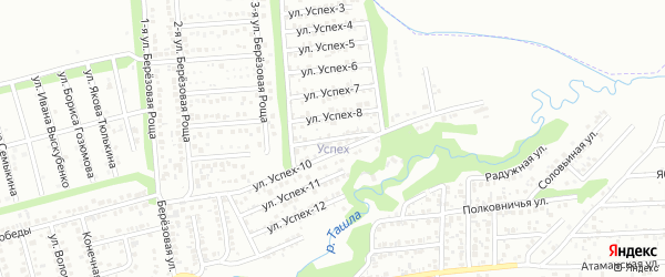 Улица Успех-9 на карте территории сдт Успеха с номерами домов