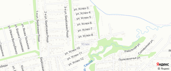 Улица Успех-8 на карте территории сдт Успеха с номерами домов