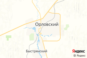 Карта пос. Орловский Ростовская область