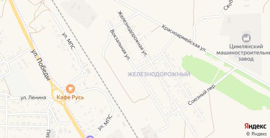 Вокзальная улица в Цимлянске с номерами домов на карте. Спутник и схема онлайн