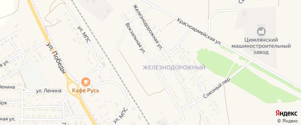 Вокзальная улица на карте Цимлянска с номерами домов