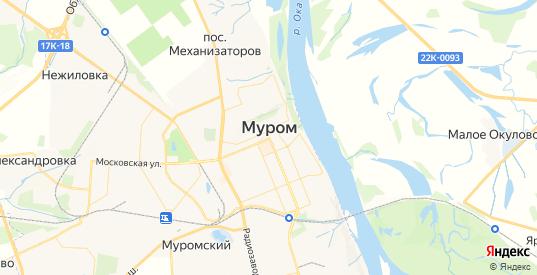 Карта Мурома с улицами и домами подробная. Показать со спутника номера домов онлайн