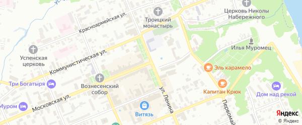 4-я Новослободская улица на карте Мурома с номерами домов