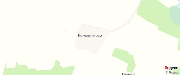 Карта деревни Кожевниково в Ивановской области с улицами и номерами домов