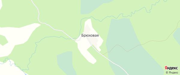 Карта Брюховой деревни в Ивановской области с улицами и номерами домов