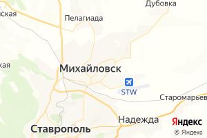 Карта г. Михайловск