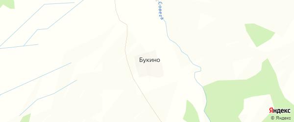 Карта деревни Букино в Костромской области с улицами и номерами домов