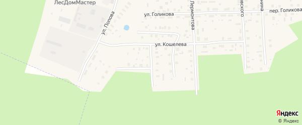 Переулок Мелиораторов на карте Вельска с номерами домов