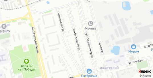 Панфиловская улица в Муроме с номерами домов на карте. Спутник и схема онлайн