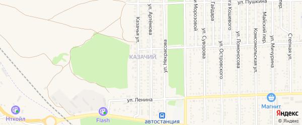 Улица Артемова на карте Цимлянска с номерами домов