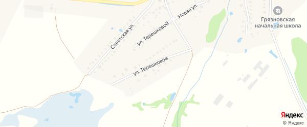 Улица Терешковой на карте Грязной деревни с номерами домов
