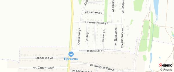 Ясная улица на карте Мурома с номерами домов