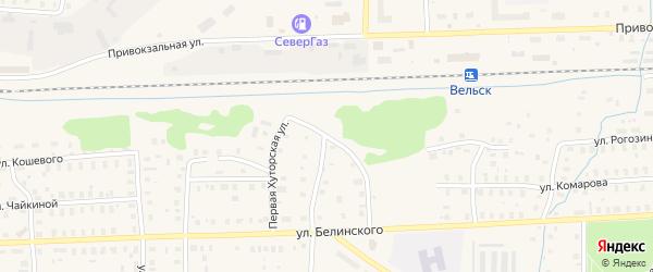 3-я Пристанционная улица на карте Вельска с номерами домов
