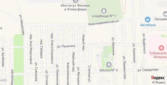 Новый переулок в Цимлянске с номерами домов на карте. Спутник и схема онлайн