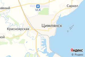 Карта г. Цимлянск Ростовская область