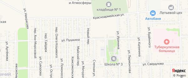 Степная улица на карте Цимлянска с номерами домов