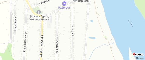 Улица Мира на карте Мурома с номерами домов