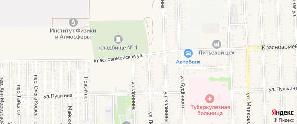 Улица Лермонтова на карте Цимлянска с номерами домов