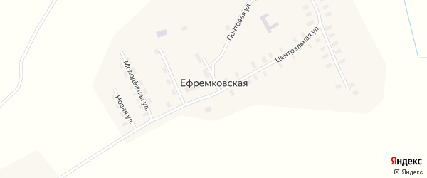 Молодежная улица на карте Ефремковской деревни с номерами домов