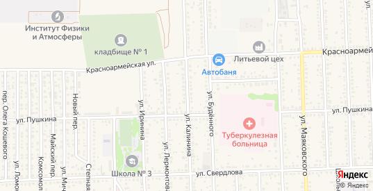 Улица Калинина в Цимлянске с номерами домов на карте. Спутник и схема онлайн