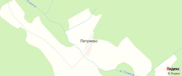 Карта деревни Петряево в Костромской области с улицами и номерами домов