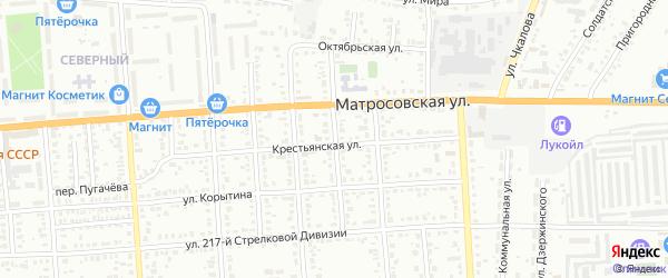 Сенной переулок на карте Борисоглебска с номерами домов