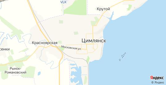 Карта Цимлянска с улицами и домами подробная. Показать со спутника номера домов онлайн
