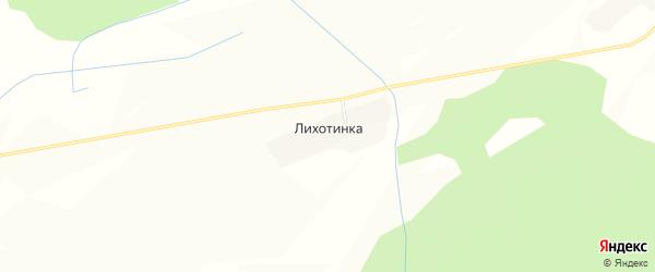 Карта деревни Лихотинки в Костромской области с улицами и номерами домов