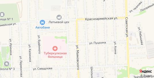 Улица Маяковского в Цимлянске с номерами домов на карте. Спутник и схема онлайн