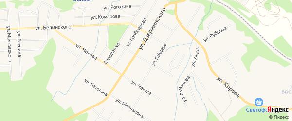 ГСК Цыпнятова на карте улицы Цыпнятова с номерами домов