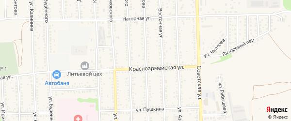 Улица Ворошилова на карте Цимлянска с номерами домов